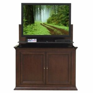 """Touchstone Harrison 73008 Tv Lift Cabinet For 50"""" Flat For Widely Used Woven Paths Farmhouse Barn Door Tv Stands In Multiple Finishes (View 11 of 14)"""