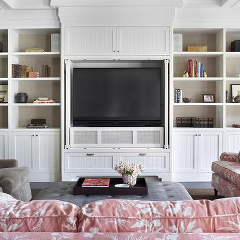 Trendy 57'' Tv Stands With Led Lights Modern Entertainment Center Inside Built In Tv Cabinet – Design, Decor, Photos, Pictures (View 5 of 15)