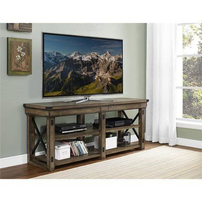 """Trendy Ameriwood Home Rhea Tv Stands For Tvs Up To 70"""" In Black Oak Throughout Laurel Foundry Modern Farmhouse Gladstone Tv Stand For Tvs (View 3 of 15)"""