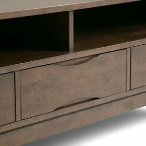 Trendy Bromley Extra Wide Oak Tv Stands Inside Simpli Home Harper Solid Wood Universal Tv Media Stand,  (View 12 of 15)