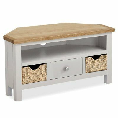 Trendy Delphi Grey Tv Stands Inside Grey Corner Tv Stand Unit Painted Solid Wood Television (View 10 of 15)
