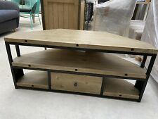 Trendy Fulton Oak Effect Corner Tv Stands Throughout Corner Tv Units For Sale (View 9 of 12)