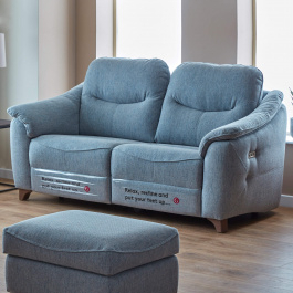 Trendy Jackson Corner Tv Stands In G Plan Jackson Blue Fabric Electric Recliner 3 Seater Sofa (View 15 of 15)
