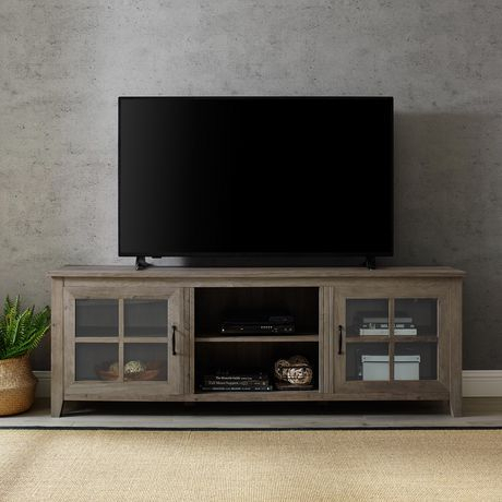 """Trendy Jaxpety 58"""" Farmhouse Sliding Barn Door Tv Stands In Rustic Gray With Regard To Manor Park Rustic Farmhouse Tv Stand For Tv'S Up To  (View 8 of 15)"""