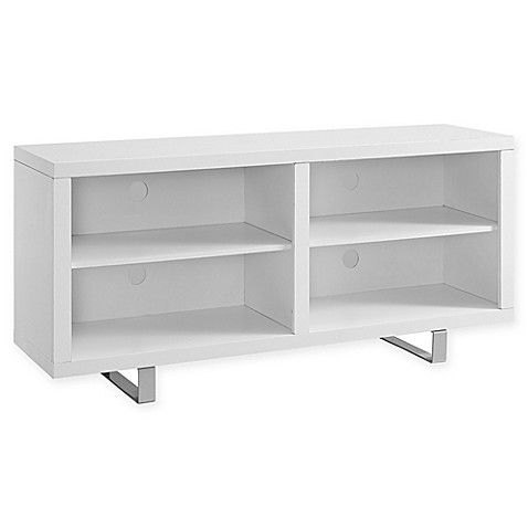 Trendy Walker Edison Contemporary Tall Tv Stands Intended For Walker Edison® Simple Modern 58 Inch Tv Console In White (View 11 of 15)