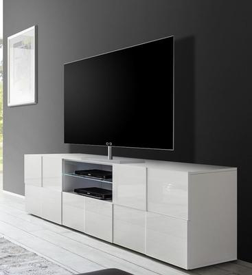 Treviso Large Tv Unit – Gloss White (View 6 of 15)