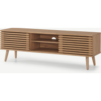 Tulma Wide Tv Stand, Oak Effect Intended For Well Known Bromley Extra Wide Oak Tv Stands (View 10 of 15)