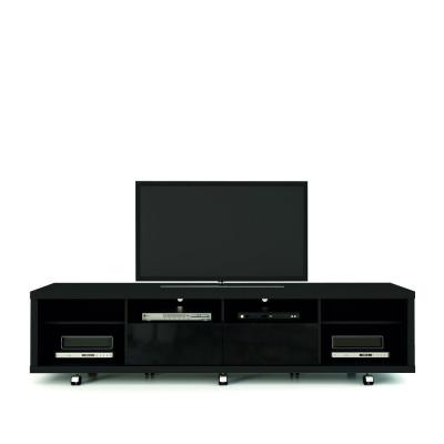 """Tv Console – Black – Tv Stands – Living Room Furniture Within Famous Ameriwood Home Rhea Tv Stands For Tvs Up To 70"""" In Black Oak (View 6 of 15)"""