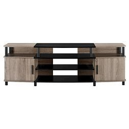"""Tv Intended For 2017 Ameriwood Home Rhea Tv Stands For Tvs Up To 70"""" In Black Oak (View 8 of 15)"""