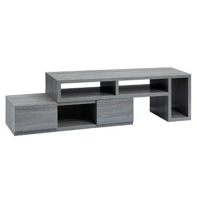 """Tv Regarding Most Popular Techni Mobili 53"""" Driftwood Tv Stands In Grey (View 15 of 15)"""