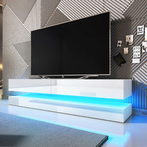 Tv Stand Aircraft White Gloss Floating Cabinet Tv Wall With Fashionable Led Tv Cabinets (View 14 of 15)