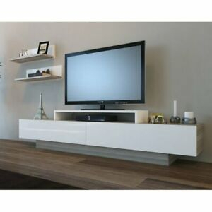 Tv Stand Entertainment Center Television Holder Shelf Wall Inside Well Liked Single Shelf Tv Stands (View 4 of 15)