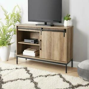 """Tv Stand, For Tvs Up To 54"""", Rustic Weathered Oak Finish In Popular Mainstays 3 Door Tv Stands Console In Multiple Colors (View 10 of 15)"""