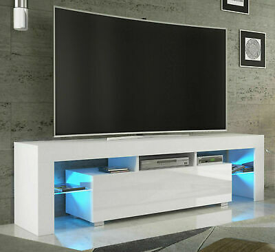 Tv Stand Matt Body High Gloss With Regard To Well Known Hannu Tv Media Unit White Stands (View 4 of 15)
