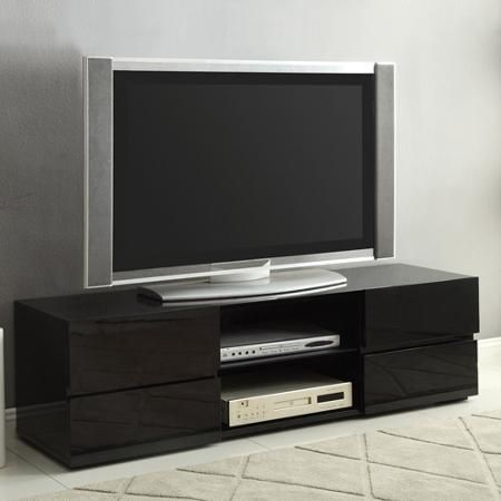 Tv Stand,Glossy Blk,55.2;5Wx15.75Dx (View 4 of 15)