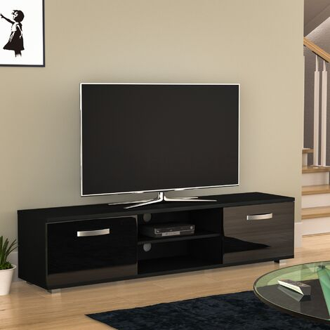 Tv Stands Inside Best And Newest 57'' Tv Stands With Led Lights Modern Entertainment Center (View 1 of 15)