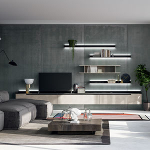 Tv Wall Unit – All Architecture And Design Manufacturers Pertaining To Favorite Modern Mobile Rolling Tv Stands With Metal Shelf Black Finish (View 6 of 15)