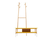 Twig Bench, Yellow And Oak (View 13 of 15)