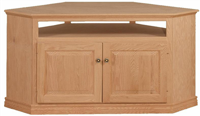 Unfinished Traditional Corner Tv Cabinet – Raised Panel With Most Current Corner Tv Cabinets With Glass Doors (View 14 of 15)
