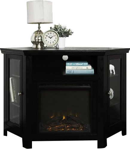 """Union Rustic Rena Corner 48"""" Tv Stand With Fireplace With Regard To Trendy Rustic Tv Stands (View 8 of 15)"""