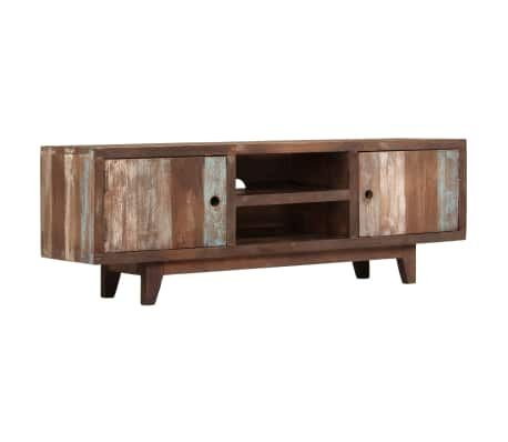 Vidaxl Tv Cabinet Solid Acacia Wood Vintage 118X30X40 Cm In Best And Newest Stil Tv Stands (View 11 of 15)