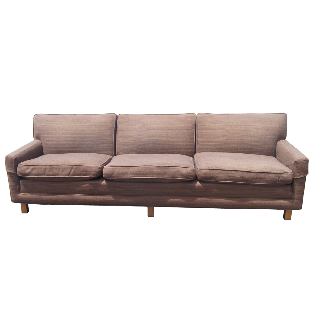 Vintage Mid Century Modern Down Filled Sofa | Ebay For Down Filled Sofas (View 8 of 15)