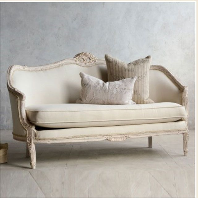 Vintage Pink White Oval Canape In Louis Xv Style French In French Seamed Sectional Sofas Oblong Mustard (View 6 of 15)