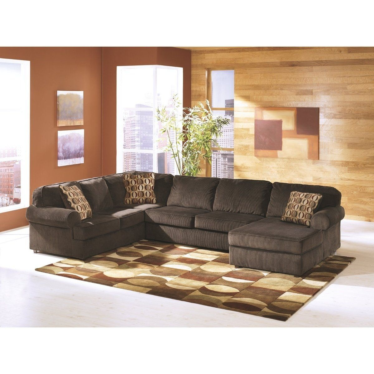 Vista 3 Piece Sectional – Raf Corner Chaise, Armless Pertaining To Norfolk Chocolate 3 Piece Sectionals With Raf Chaise (View 5 of 15)