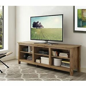 Walker Edison 70 Inch Wooden Tv Stand Storage Console In With Regard To Most Recent Orsen Wide Tv Stands (View 7 of 15)