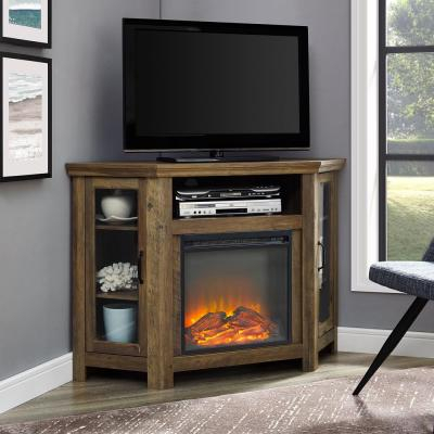 Walker Edison Furniture Company Modern Farmhouse Tall Pertaining To Most Popular Rustic Corner Tv Stands (View 7 of 15)