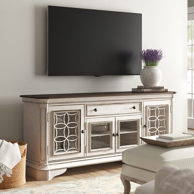 """Wayfair Inside Well Liked Griffing Solid Wood Tv Stands For Tvs Up To 85"""" (View 5 of 15)"""