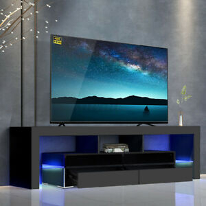 """Well Known 47"""" Tv Stands High Gloss Tv Cabinet With 2 Drawers Intended For 63"""" High Gloss Tv Stand Cabinet Console Unit Furniture (View 9 of 15)"""