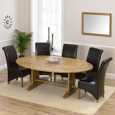 Well Known Bromley Oak Tv Stands Throughout Carver Oak Oval Extending Dining Table With 8 Bromley (View 12 of 15)