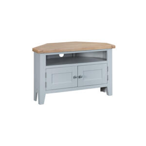 Well Known Compton Ivory Corner Tv Stands With Baskets In Grey Furniture – Corner Tv Unit – Valencia Collection (View 12 of 15)
