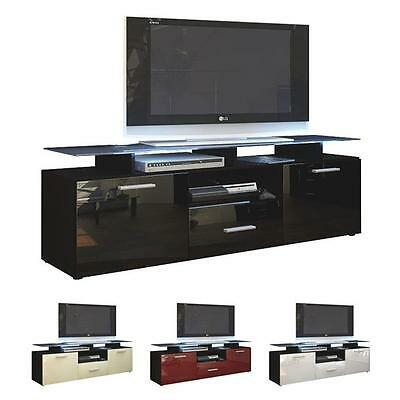 Well Known Dillon Black Tv Unit Stands Inside Black High Gloss Modern Tv Stand Unit Media Entertainment (View 2 of 15)