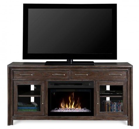 Well Known Fireplace Media Console Tv Stands With Weathered Finish With Regard To Dimplex Gds25Gd 1415Wbn Woolbrook Media Console In A (View 9 of 15)