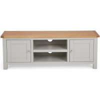 Well Known Freya Wide Tv Stands With Regard To Dunelm 5054077927260 Lucy Cane Grey Wide Tv Stand Slate (View 1 of 15)