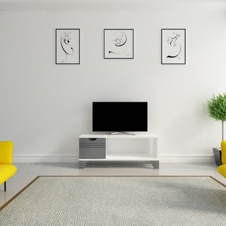 """Well Known Freya Wide Tv Stands Within Shop Tv Stand – 42""""L / White Corner – Free Shipping Today (View 3 of 15)"""