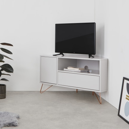 Well Known Fulton Oak Effect Corner Tv Stands Pertaining To Tv Stands & Media Units (View 6 of 12)