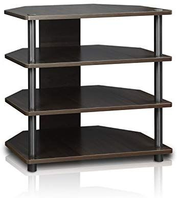 Well Known Furinno Jaya Large Tv Stands With Storage Bin Throughout Amazon: Furinno Turn N Tube Easy Assembly 4 Tier (View 8 of 15)