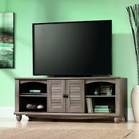 Well Known Harbor Wide Tv Stands Regarding Sauder Harbor View Corner Entertainment Credenza Antiqued (View 8 of 15)