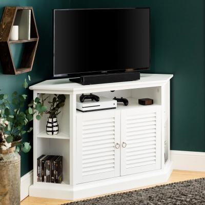 Well Known High Glass Modern Entertainment Tv Stands For Living Room Bedroom For White – Tv Stands – Living Room Furniture – The Home Depot (View 13 of 15)