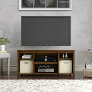 """Well Known Mainstays 3 Door Tv Stands Console In Multiple Colors In Mainstays Parsons Cubby Tv Stand For Tvs Up To 50"""", Canyon (View 6 of 15)"""