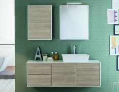 Well Known Puro White Tv Stands For Nella Vetrina Summit 05 Modern Luxury Italian Bathroom (View 4 of 15)