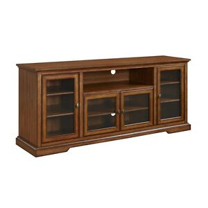 """Well Known Rustic Wood Tv Cabinets Pertaining To Walker Edison 70"""" Highboy Style Wood Tv Stand – Rustic (View 4 of 15)"""