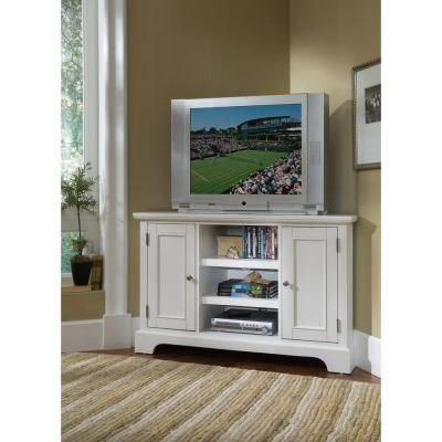 Well Known Sherbourne Oak Corner Tv Stands Pertaining To Home Styles Naples White Corner Tv Stand 5530 07 At The (View 4 of 14)