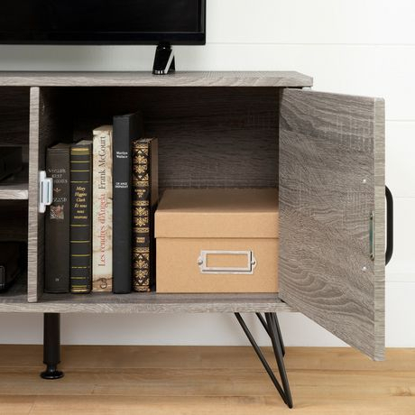 Well Known South Shore Evane Tv Stands With Doors In Oak Camel In South Shore Evane Tv Stand With Doors For Tvs Up To  (View 1 of 15)