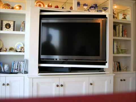 Well Known Tv Stands And Bookshelf Pertaining To Revolving Tv Cabinet And Bookcase – Youtube (View 8 of 15)
