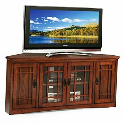 """Well Known Tv Stands For Corners Throughout Leick Mission Corner Tv Stand, 56"""" 56 Inch Corner (View 15 of 15)"""