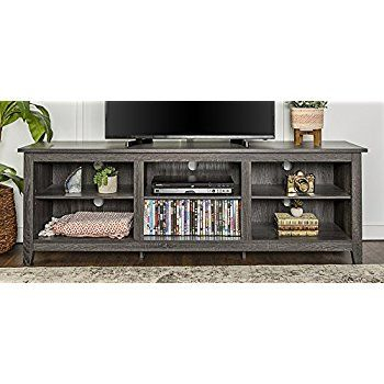 """Well Known Walker Edison Wood Tv Media Storage Stands In Black Pertaining To We Furniture 70"""" Wood Media Tv Stand Storage Console (View 15 of 15)"""